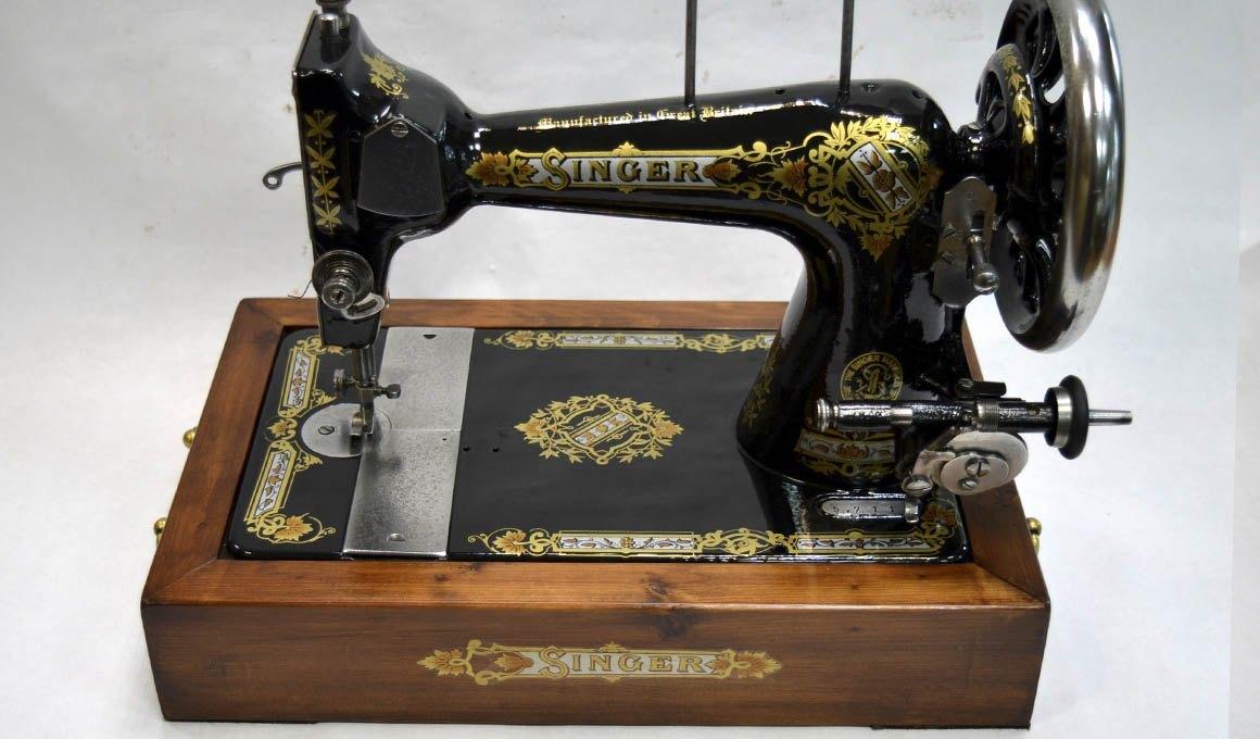 cajon base de pino para maquina de coser
