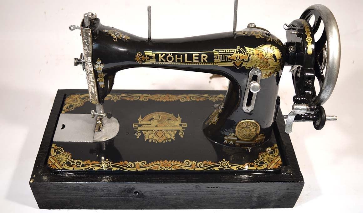 maquina de coser kooler restaurada