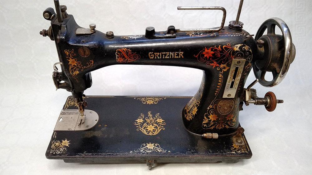 restaurar máquina de coser gritzner