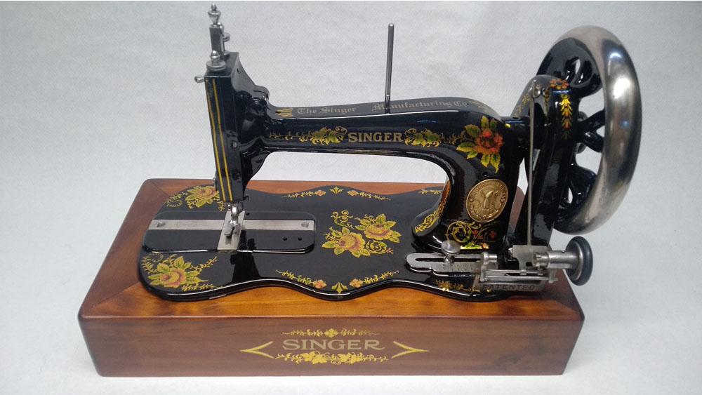 maquina de coser singer restaurada antigua el taller de sarin